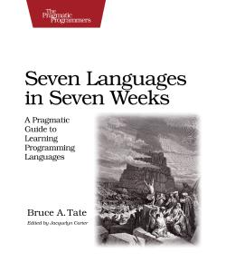 Cover Image For Seven Languages in Seven Weeks...